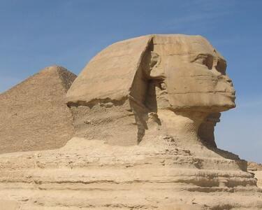 Great Sphinx-  visiting Saqqara pyramid